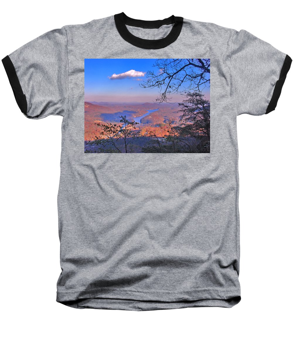 Landscape Baseball T-Shirt featuring the photograph Reaching For A Cloud by Steve Karol