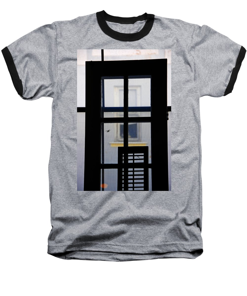 Architecture Baseball T-Shirt featuring the photograph Rear Window 2 by Skip Hunt