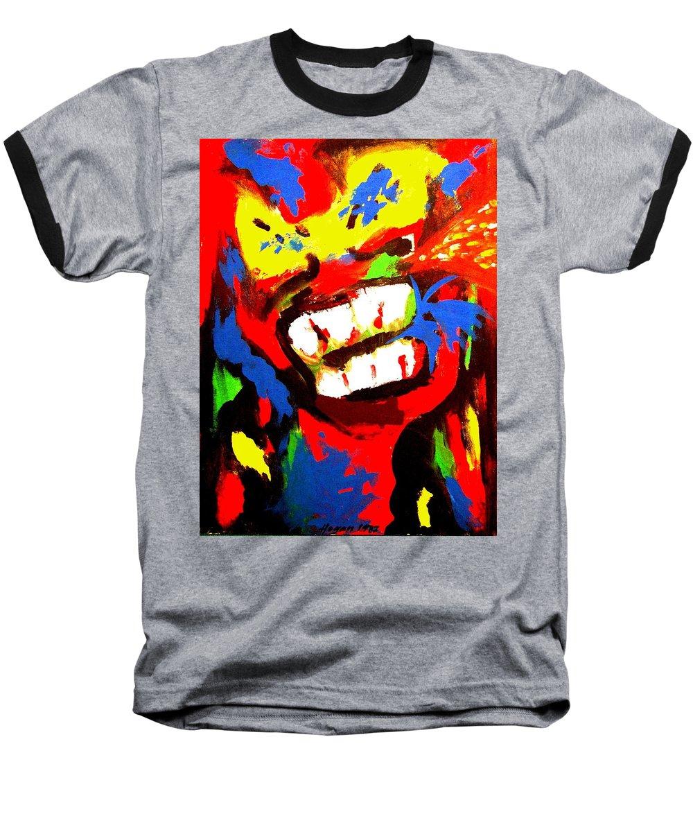 Teenager Baseball T-Shirt featuring the painting Rebel Rebel by Alan Hogan