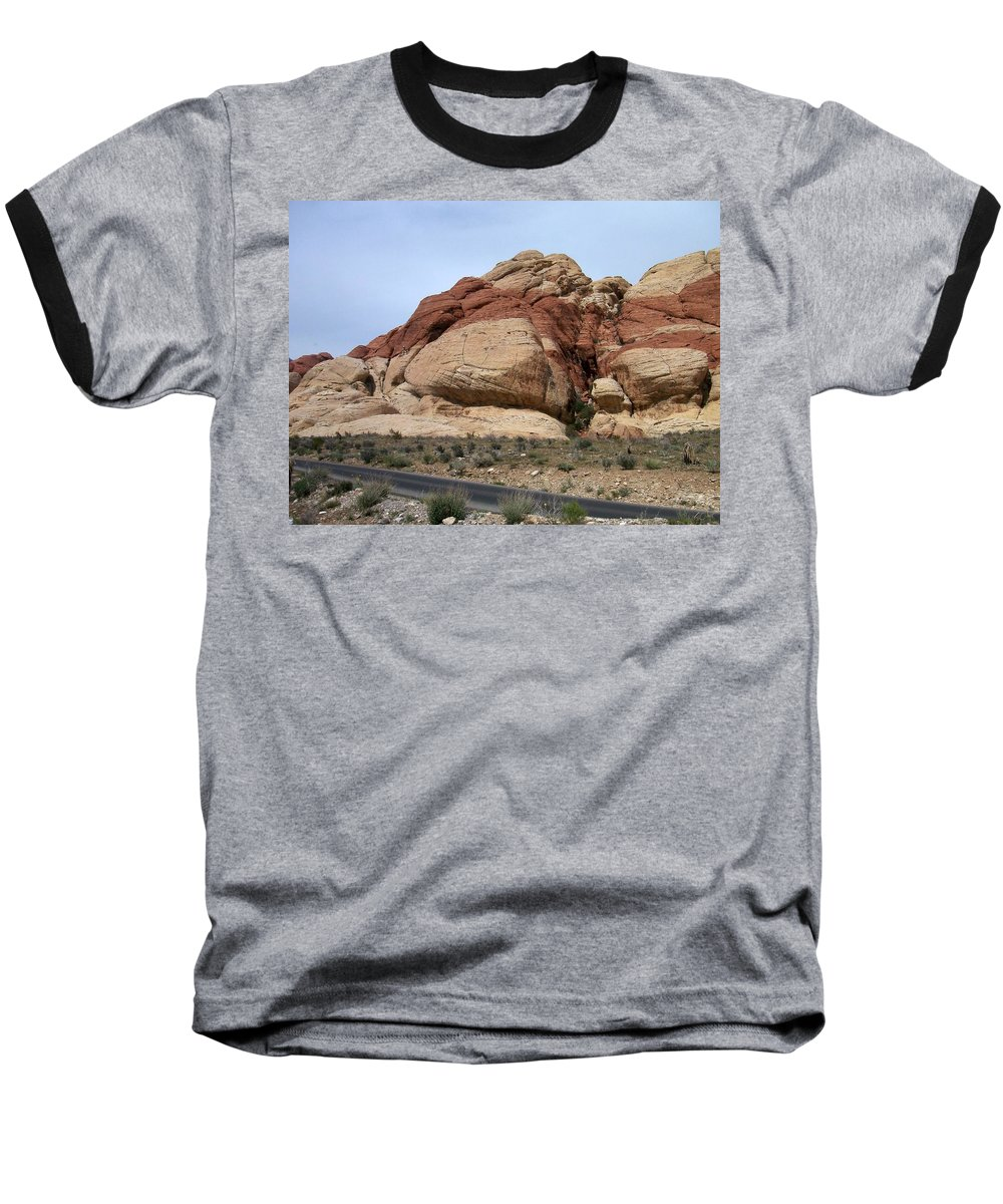 Red Rock Canyon Baseball T-Shirt featuring the photograph Red Rock Canyon 2 by Anita Burgermeister