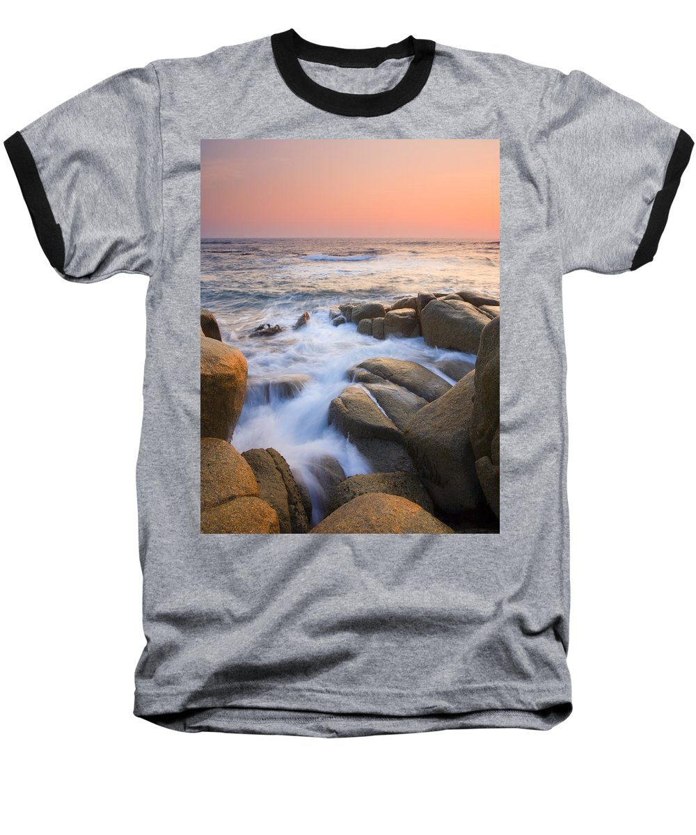Sunrise Baseball T-Shirt featuring the photograph Red Sky At Morning by Mike Dawson