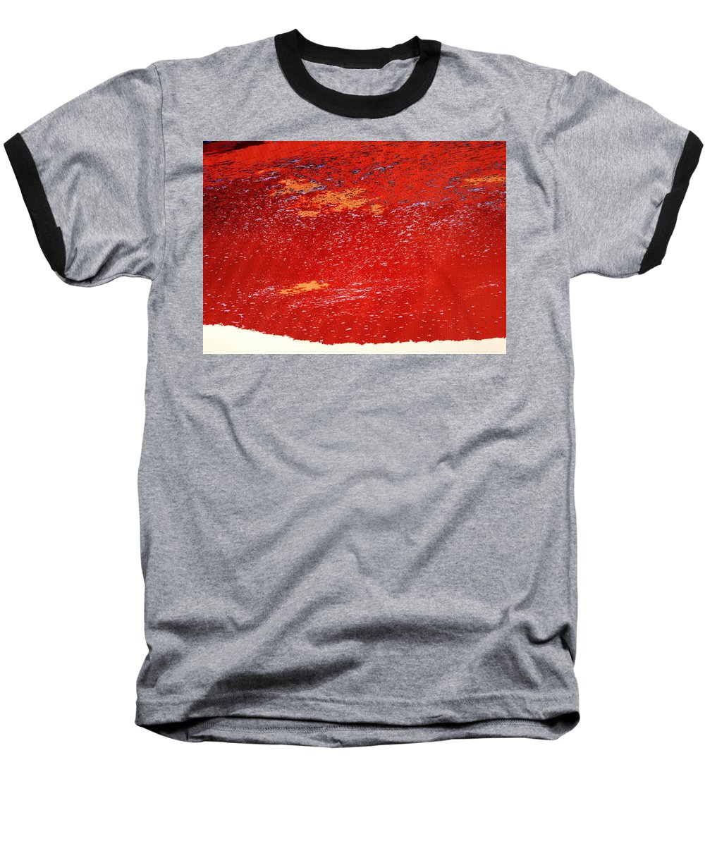 Red Baseball T-Shirt featuring the photograph Red Surf On The Beach by Ian MacDonald