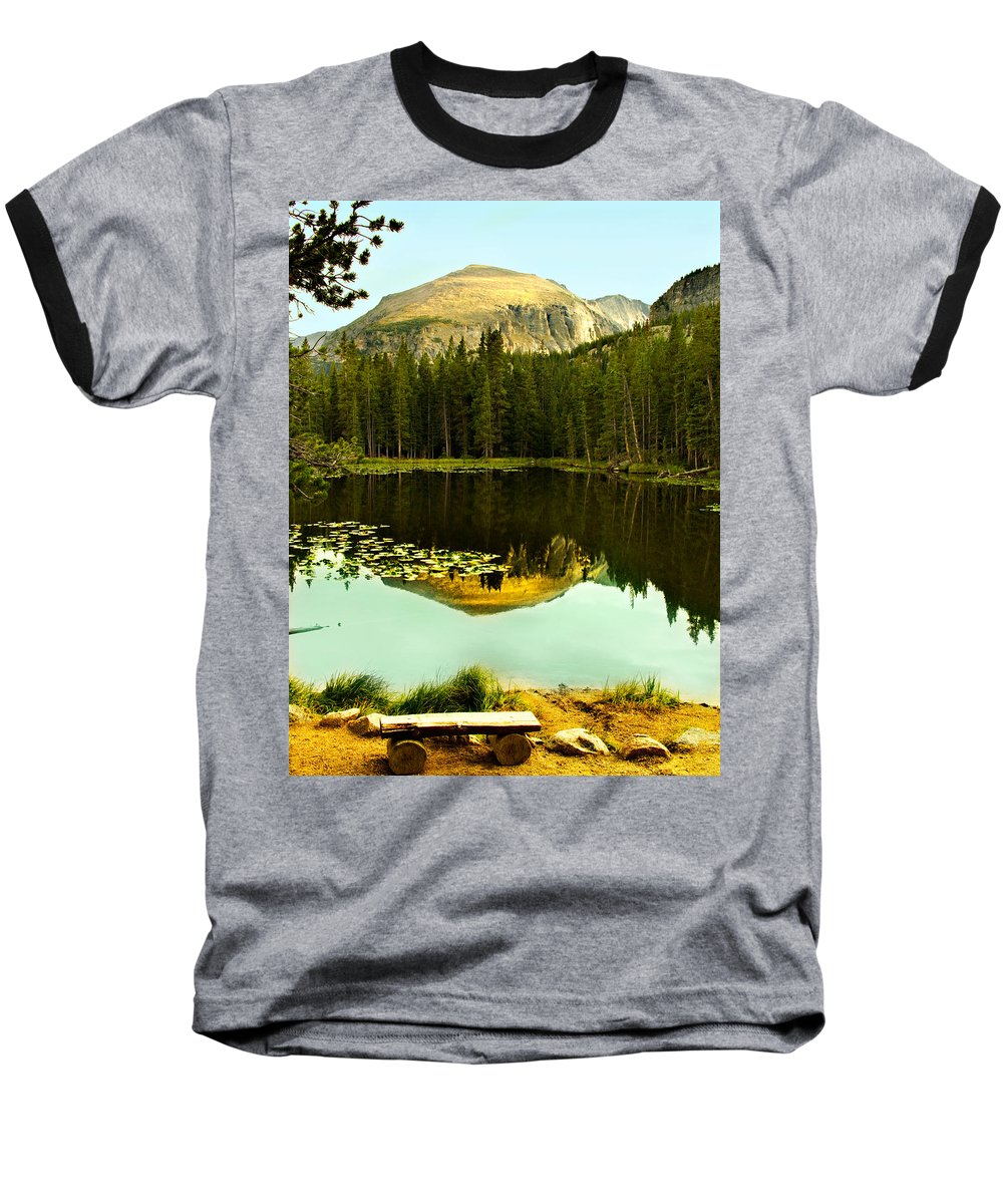 Reflection Baseball T-Shirt featuring the photograph Reflection by Marilyn Hunt