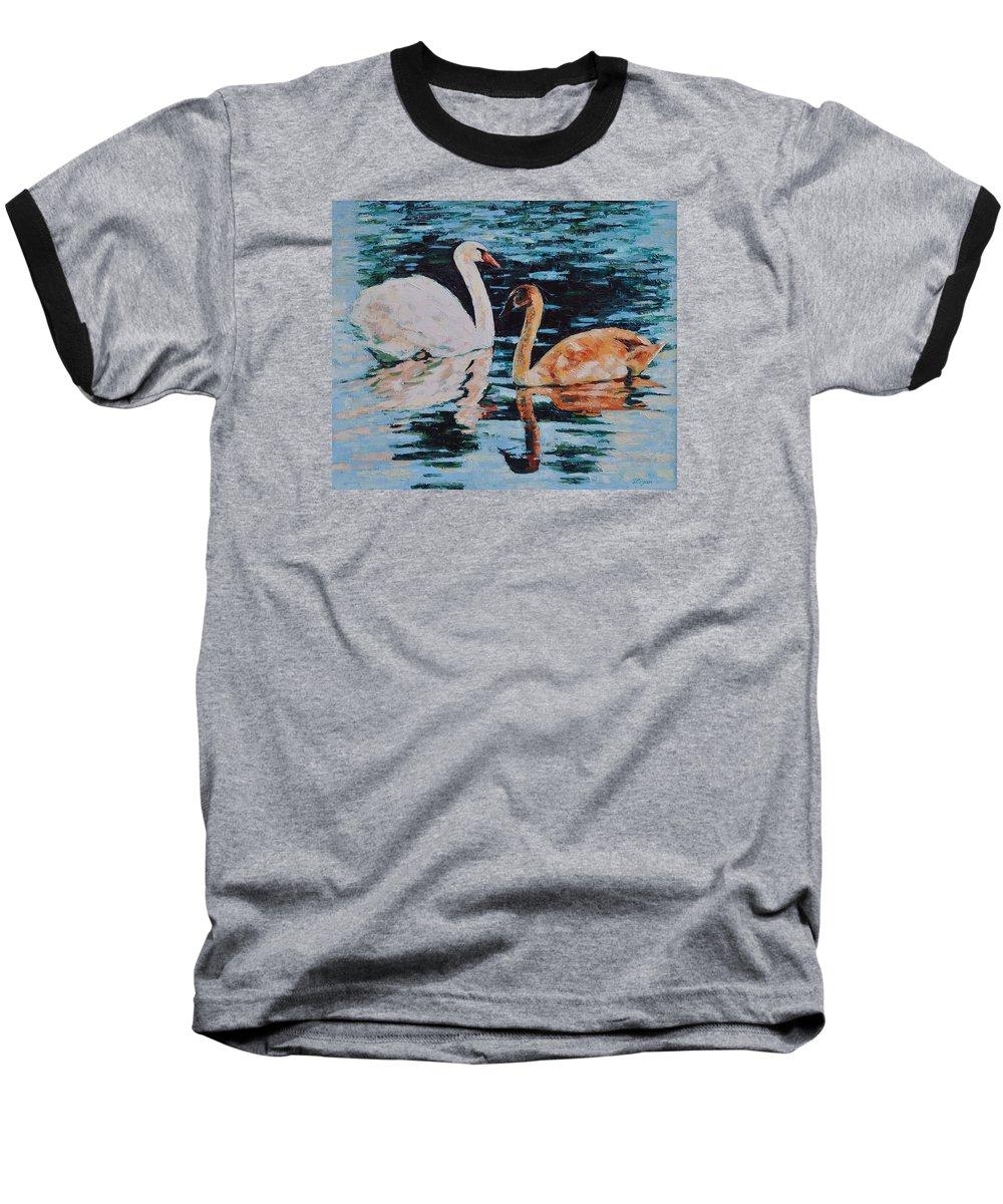 Blue Baseball T-Shirt featuring the painting Reflections by Iliyan Bozhanov