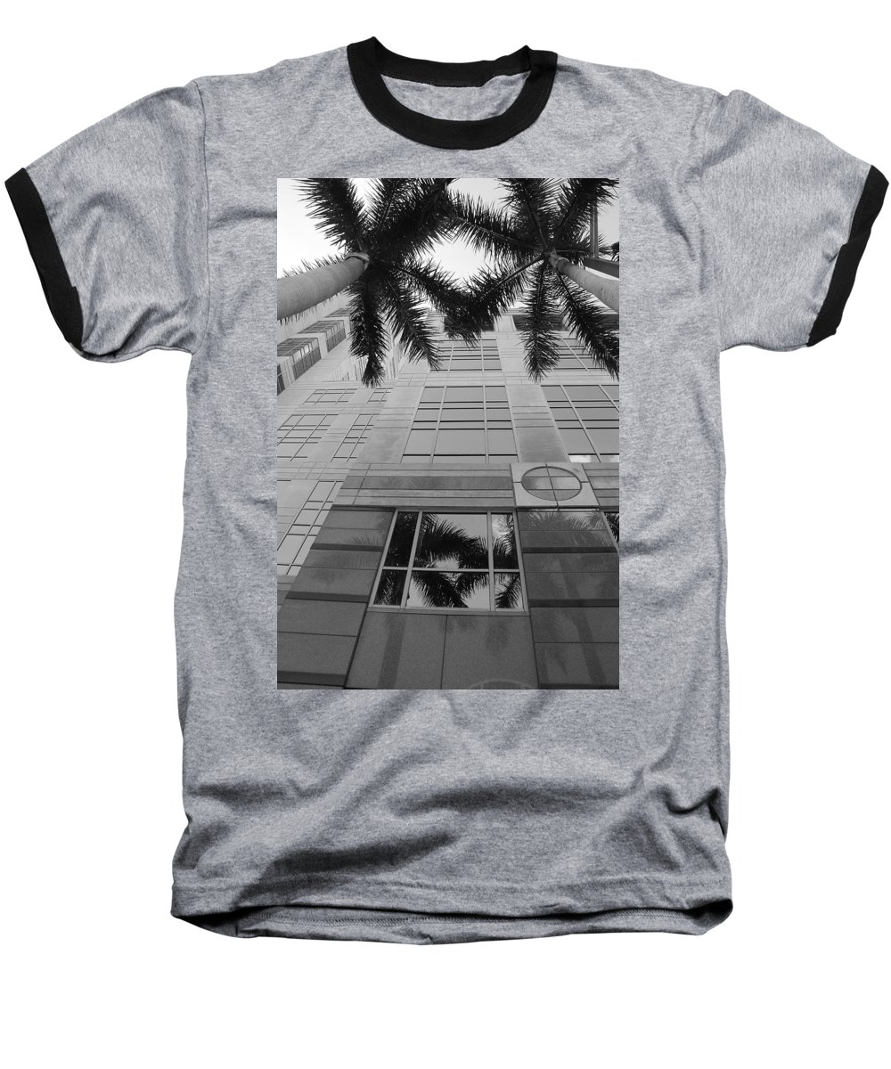 Architecture Baseball T-Shirt featuring the photograph Reflections On The Building by Rob Hans