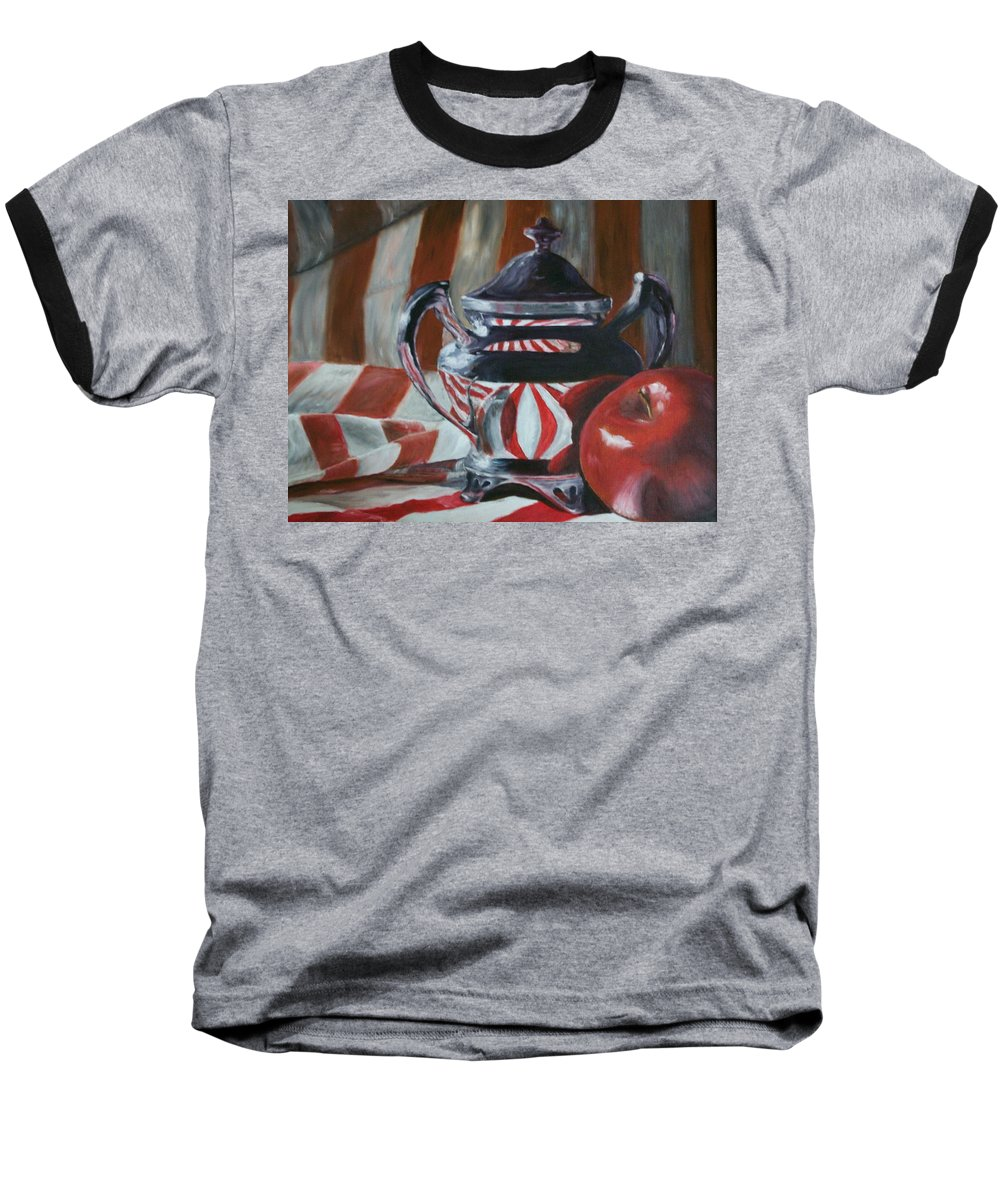 Still Life Baseball T-Shirt featuring the painting Reflections by Stephen King