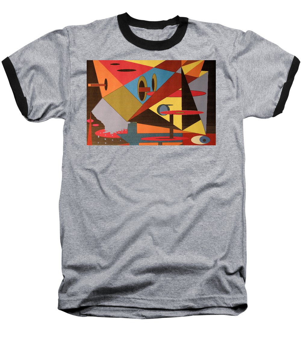 Abstract Baseball T-Shirt featuring the digital art Regret by Ian MacDonald