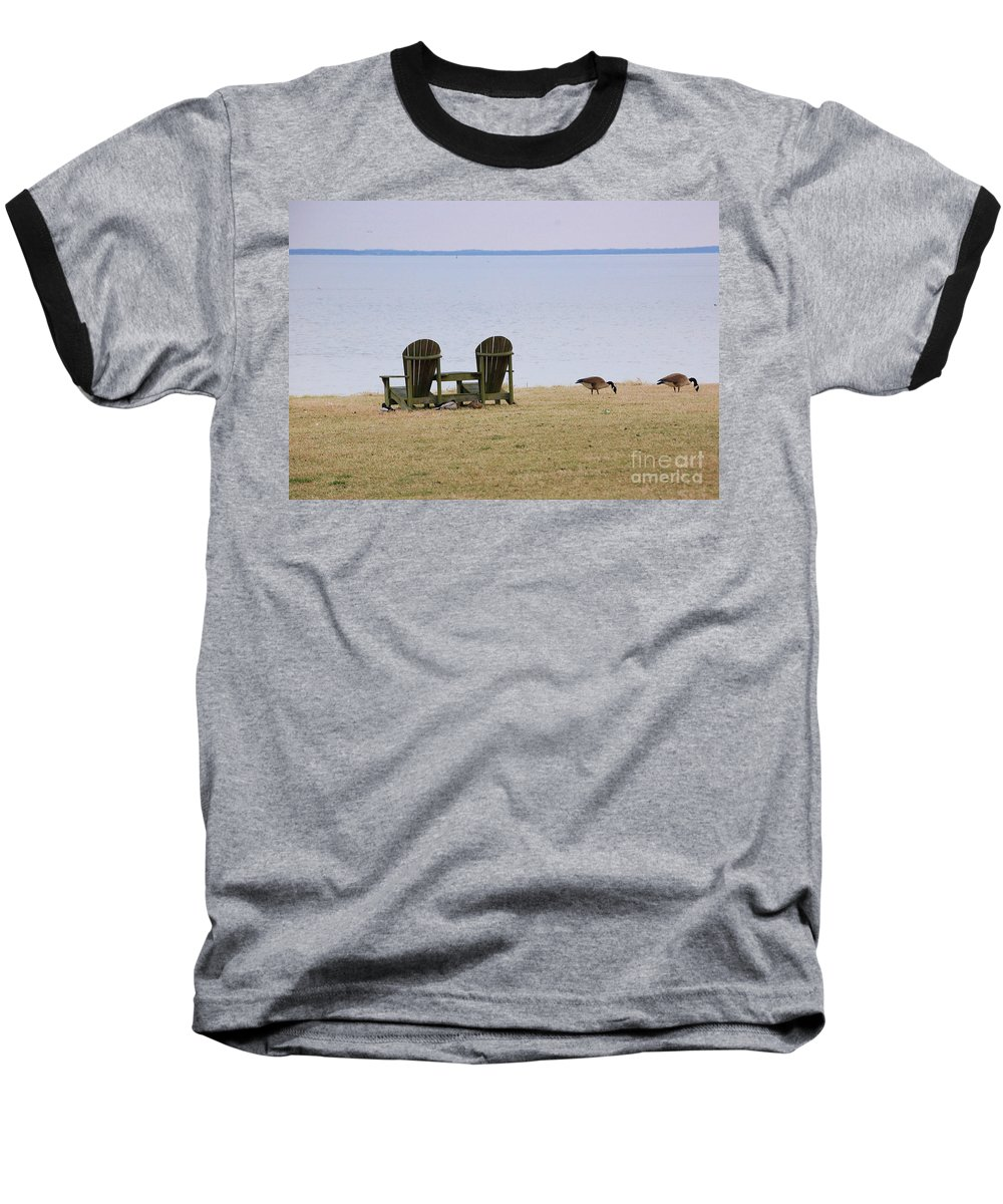 Chairs Baseball T-Shirt featuring the photograph Relax by Debbi Granruth
