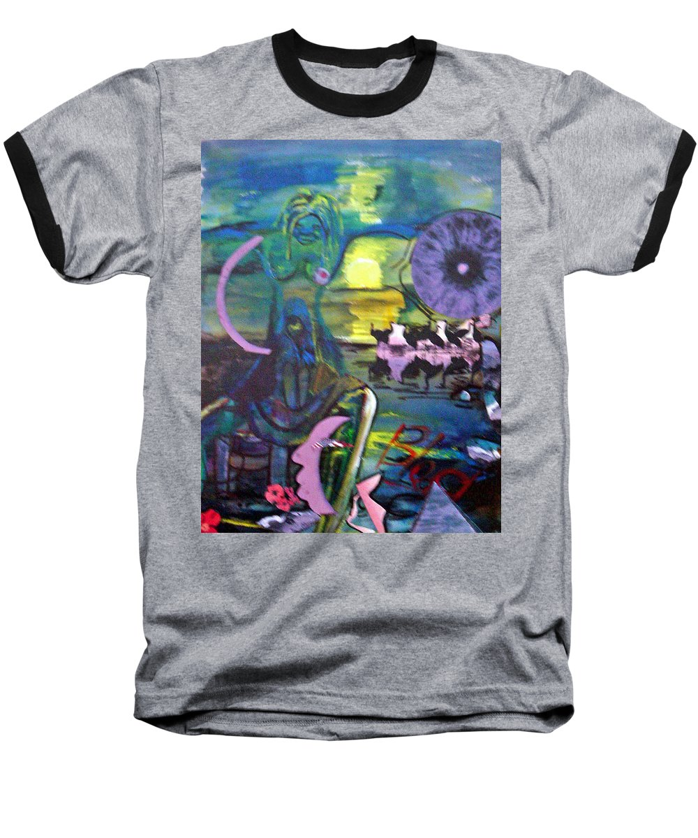 Water Baseball T-Shirt featuring the painting Remembering 9-11 by Peggy Blood