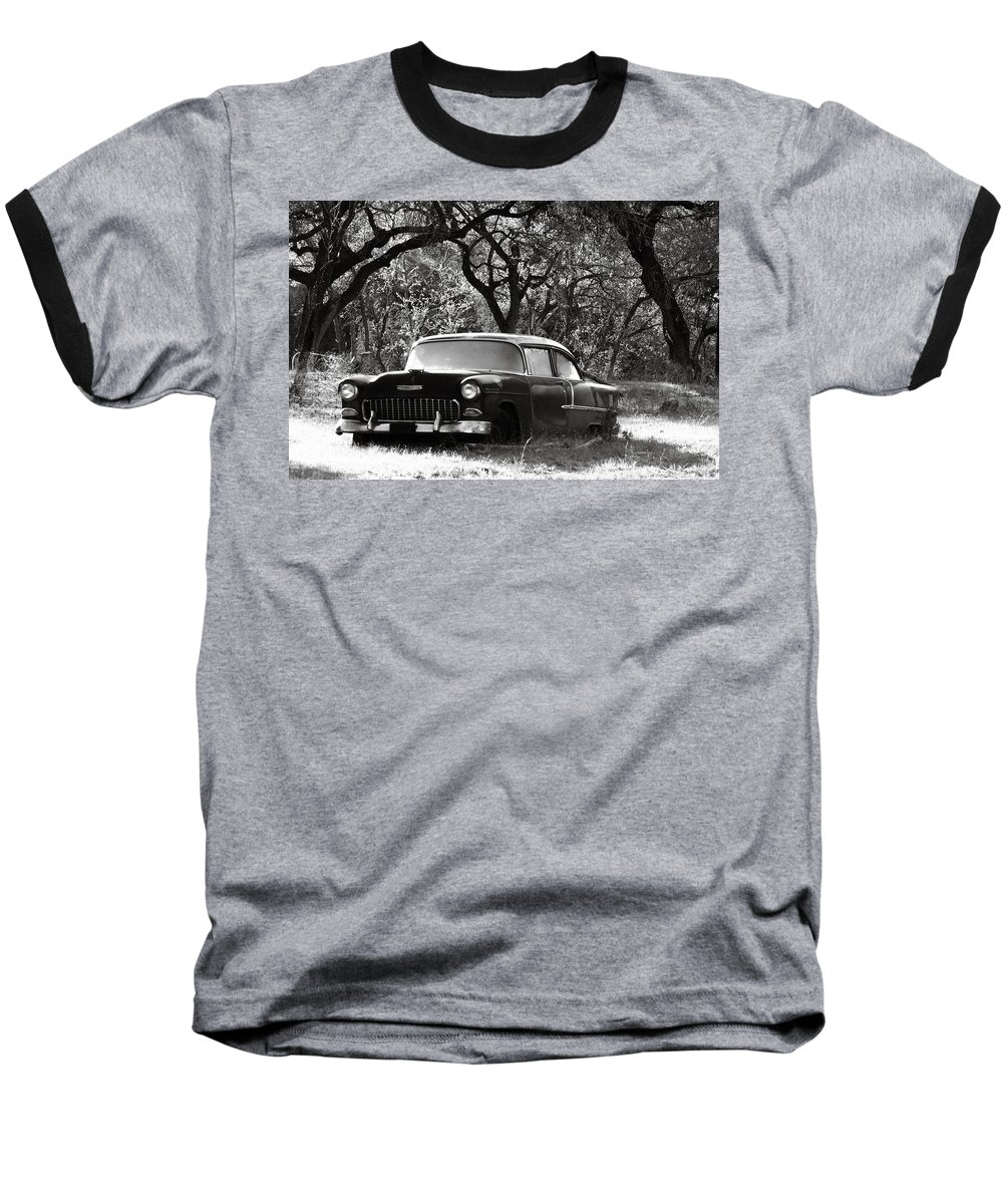 Americana Baseball T-Shirt featuring the photograph Resting Amongst The Oaks by Marilyn Hunt