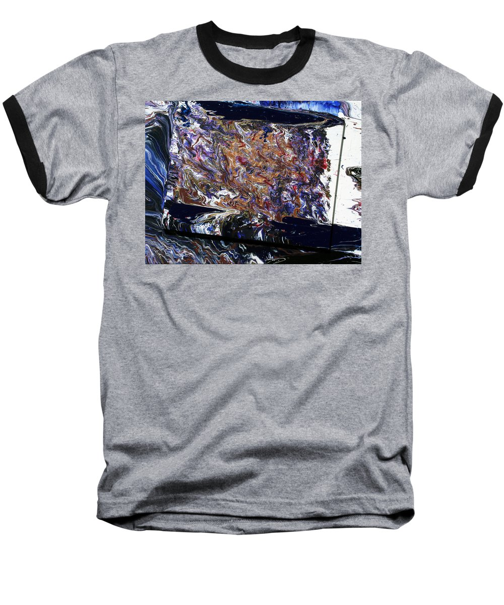Fusionart Baseball T-Shirt featuring the painting Revolution by Ralph White