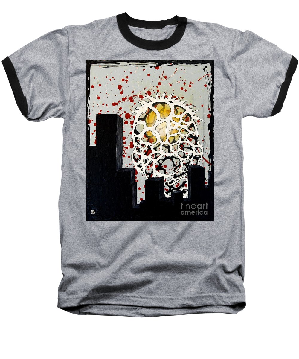 Energy Baseball T-Shirt featuring the painting Rise by A 2 H D