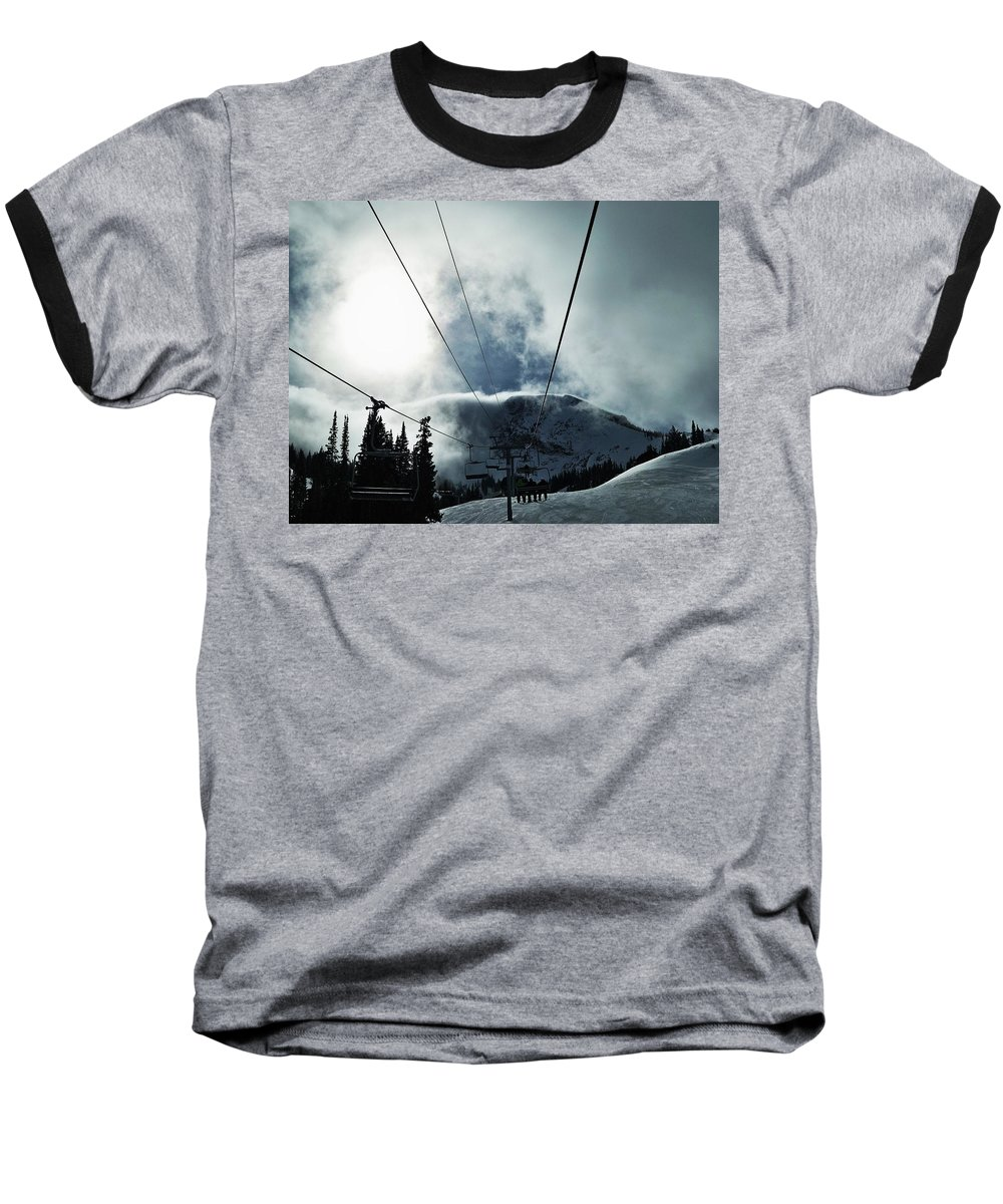 Landscape Baseball T-Shirt featuring the photograph Rise To The Sun by Michael Cuozzo