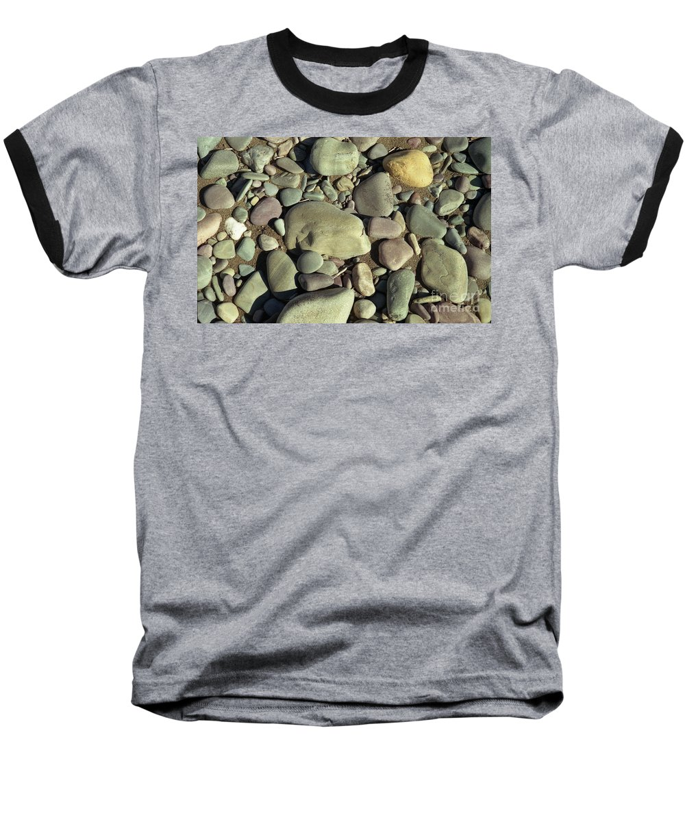 River Rock Baseball T-Shirt featuring the photograph River Rock by Richard Rizzo