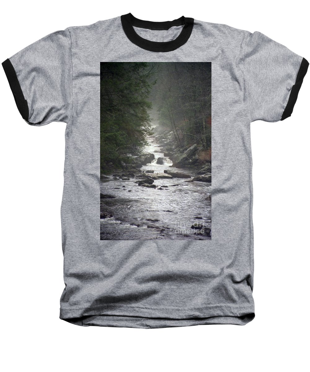 River Baseball T-Shirt featuring the photograph River Run by Richard Rizzo