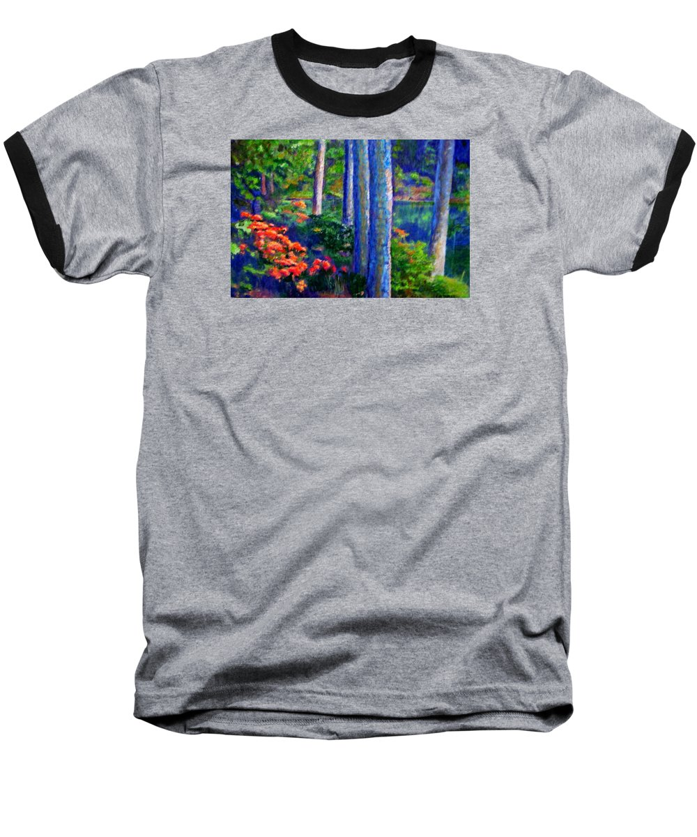 River Baseball T-Shirt featuring the painting Rivers Edge by Michael Durst