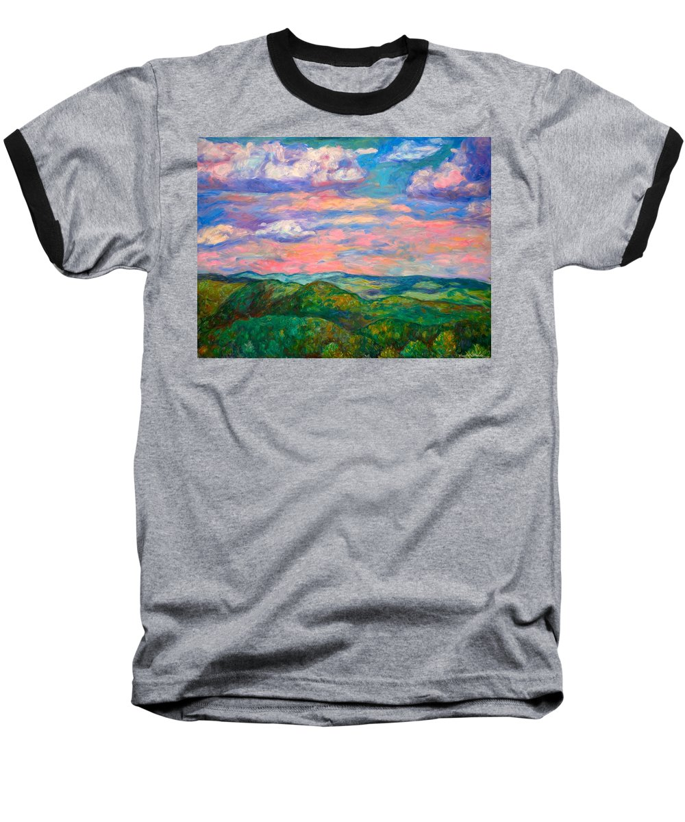 Landscape Paintings Baseball T-Shirt featuring the painting Rock Castle Gorge by Kendall Kessler