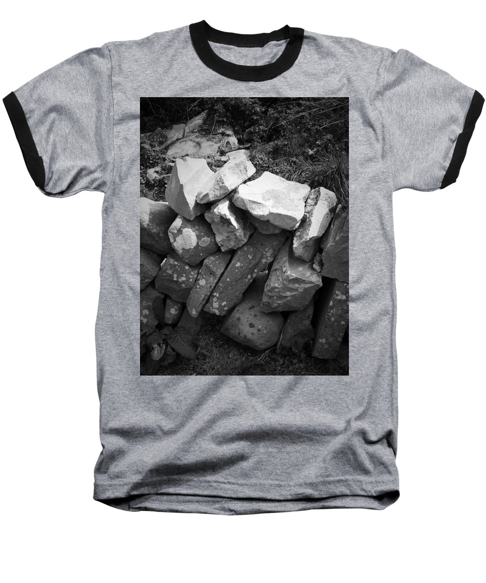 Irish Baseball T-Shirt featuring the photograph Rock Wall Doolin Ireland by Teresa Mucha