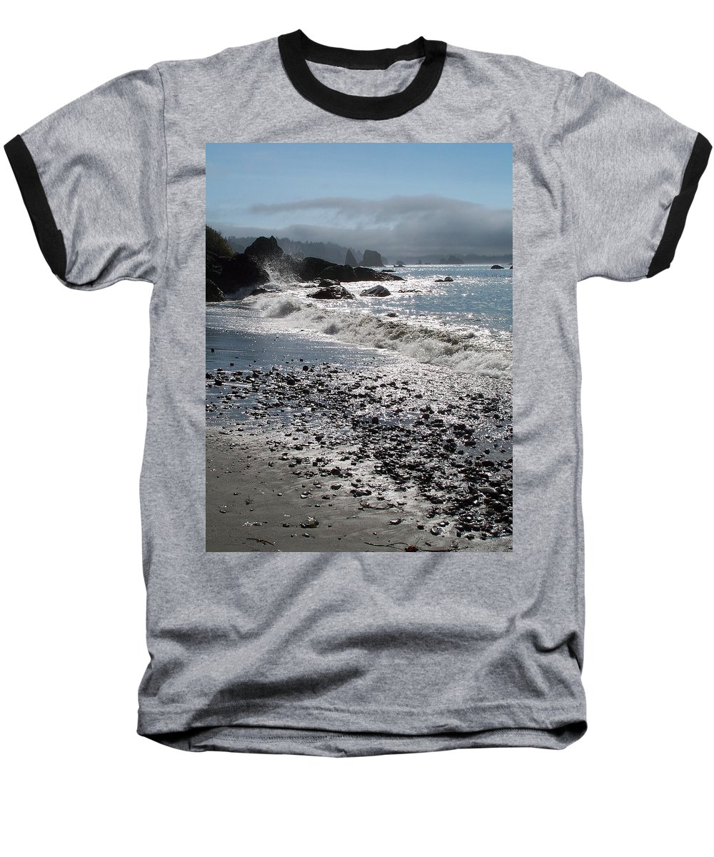 Ocean Baseball T-Shirt featuring the photograph Rocky Shores by Gale Cochran-Smith