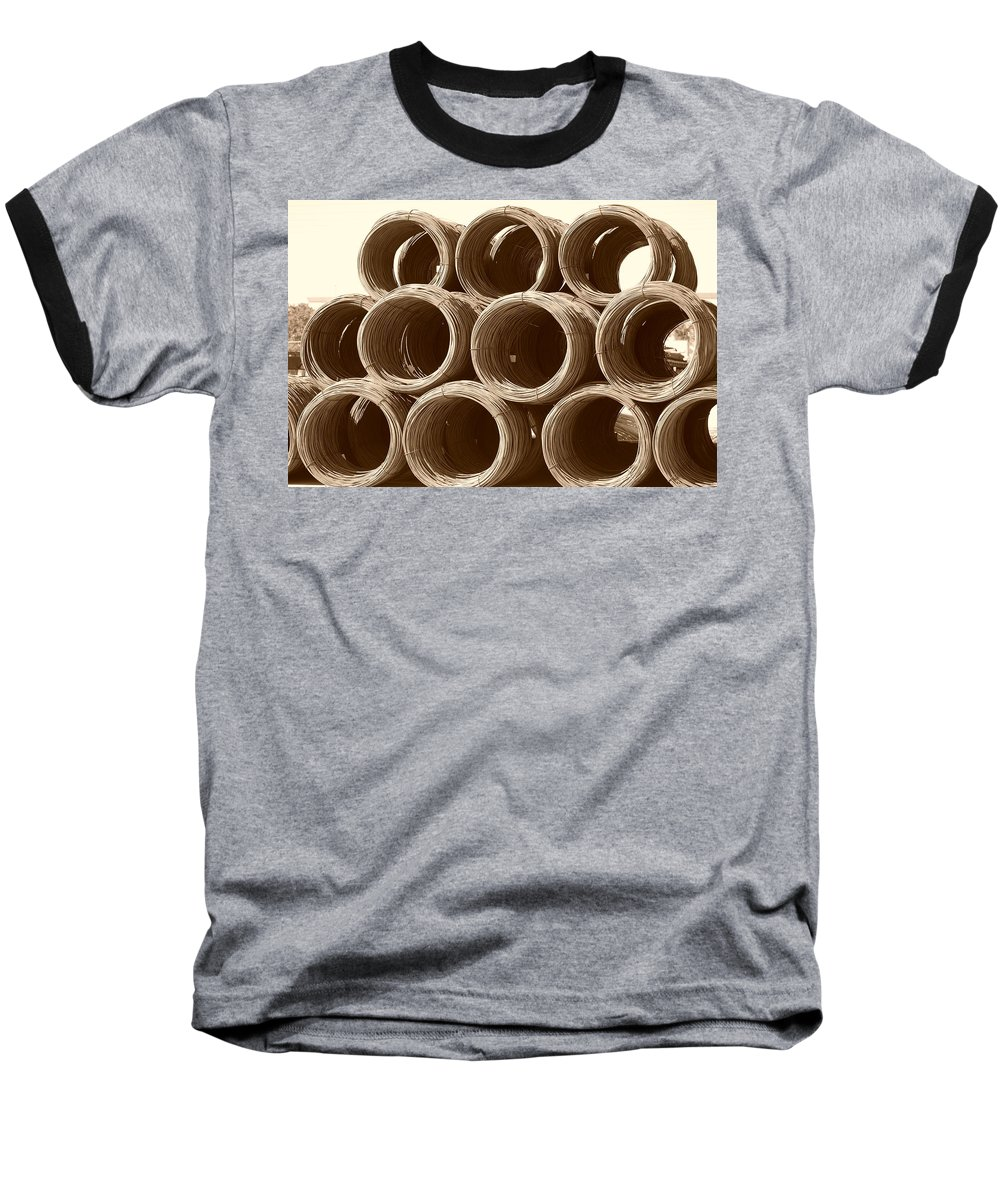 Metal Baseball T-Shirt featuring the photograph Rolled Steele by Rob Hans