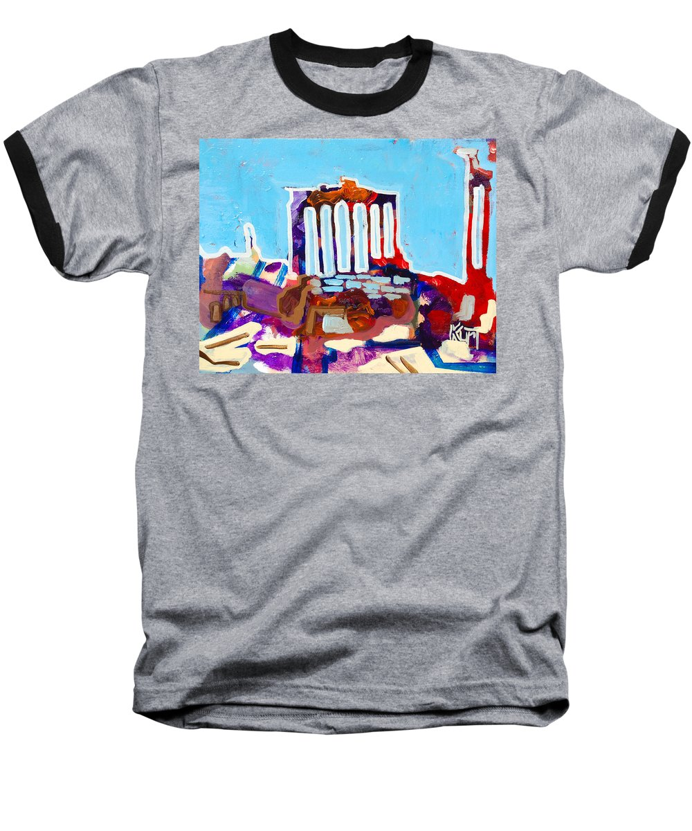 Rome Baseball T-Shirt featuring the painting Rome by Kurt Hausmann