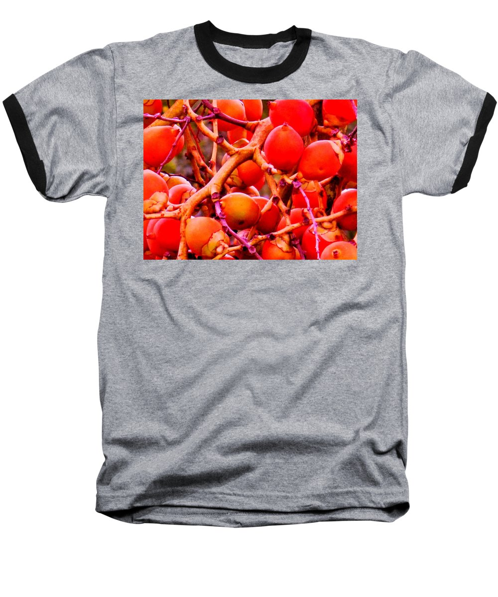 Red Baseball T-Shirt featuring the photograph Romney Red by Ian MacDonald