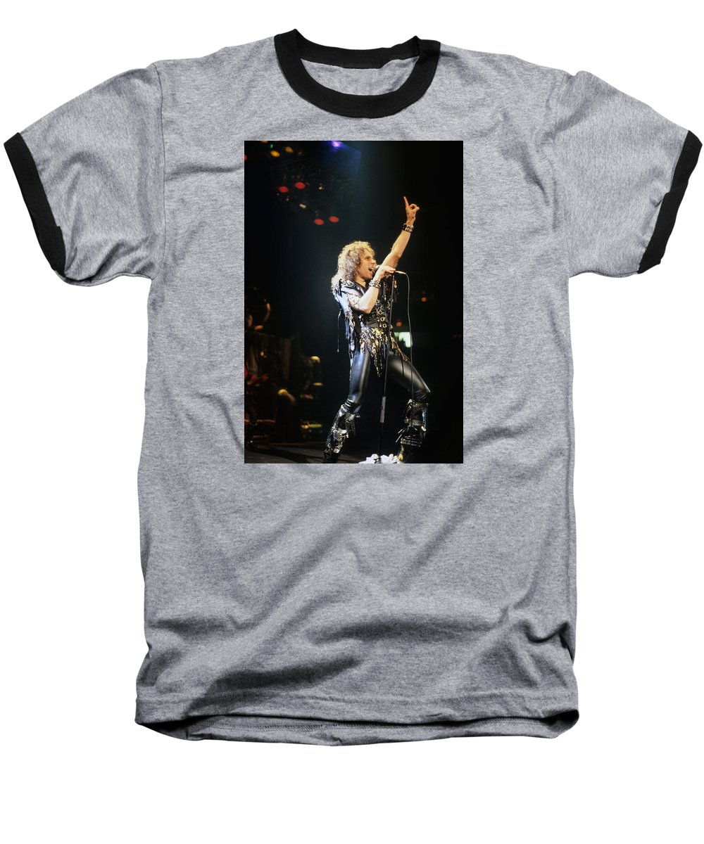 Ronnie James Dio Baseball T-Shirt featuring the photograph Ronnie James Dio by Rich Fuscia