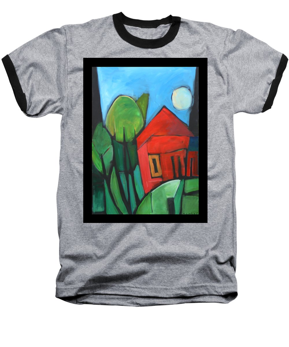 Trees Baseball T-Shirt featuring the painting Root Cellar by Tim Nyberg