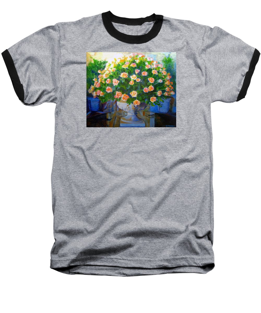 Rose Baseball T-Shirt featuring the painting Roses At Table Bay by Michael Durst