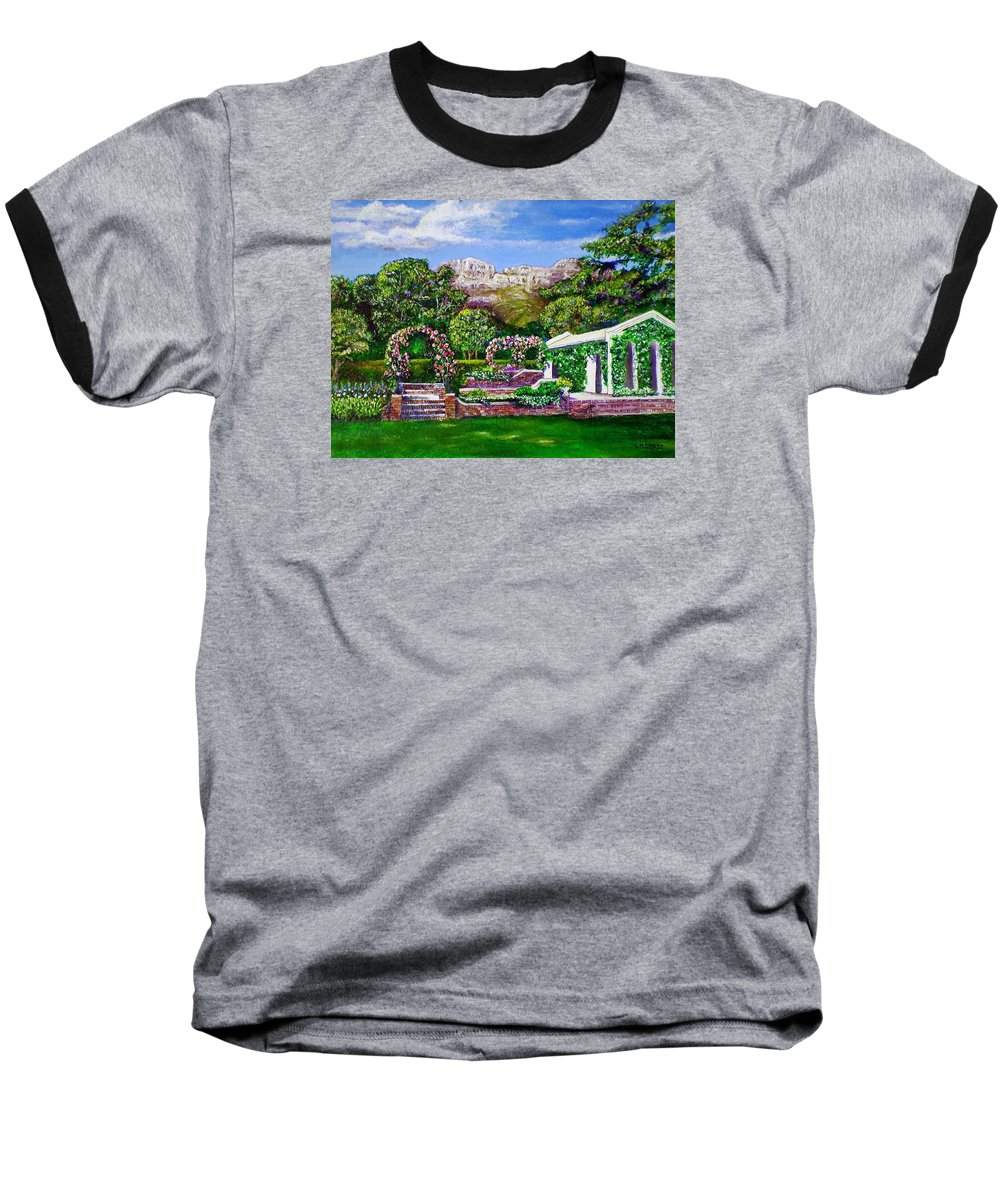 Landscape Baseball T-Shirt featuring the painting Rozannes Garden by Michael Durst
