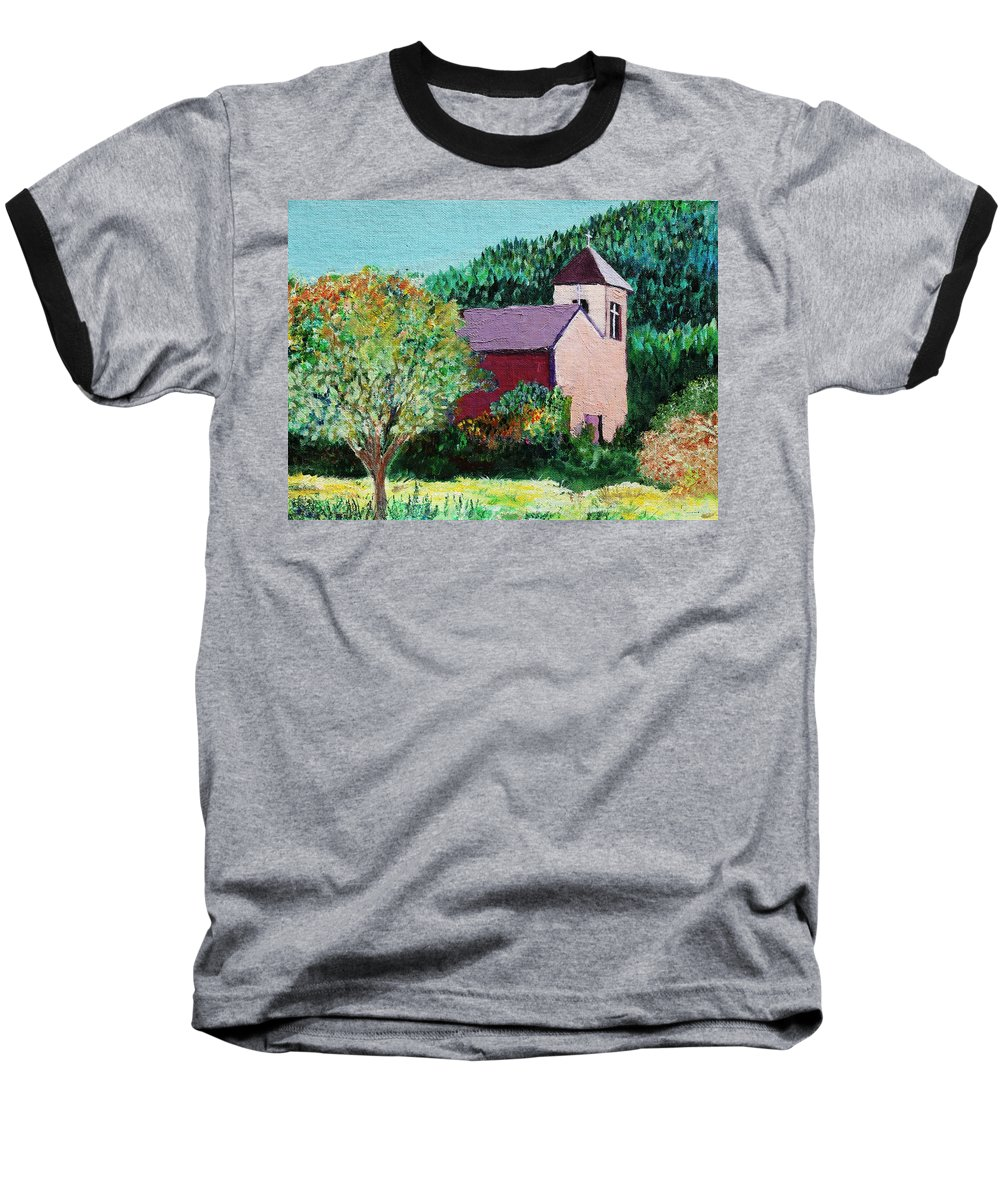 Church Baseball T-Shirt featuring the painting Ruidoso by Melinda Etzold