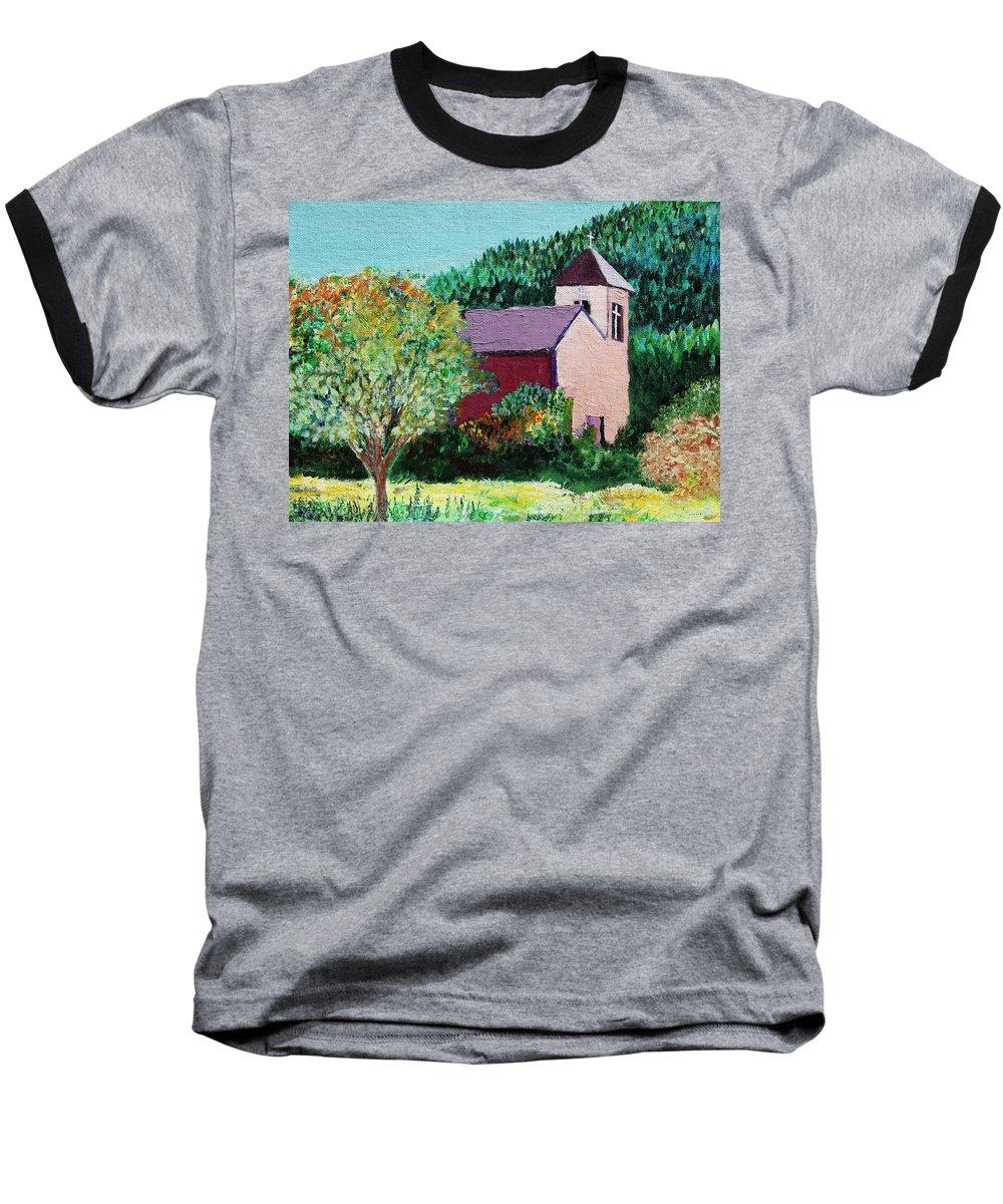 Church Baseball T-Shirt featuring the painting Ruidoso by Melinda Etzold
