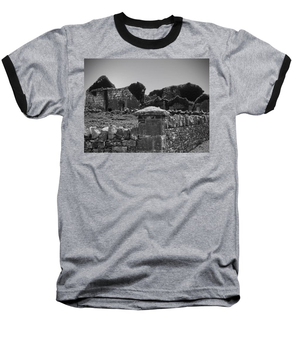 Irish Baseball T-Shirt featuring the photograph Ruins In The Burren County Clare Ireland by Teresa Mucha