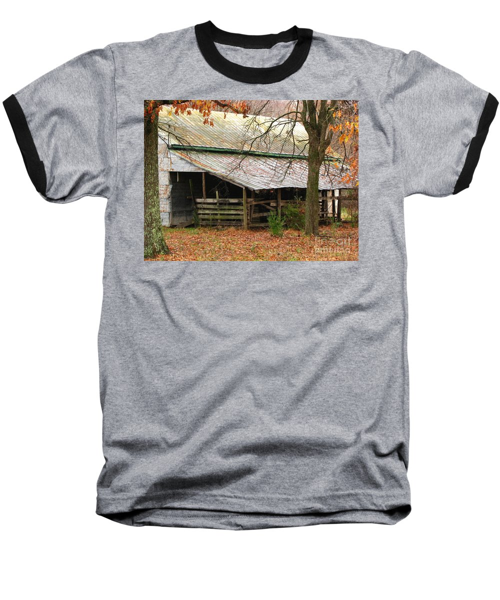 Rural Baseball T-Shirt featuring the photograph Rural by Amanda Barcon