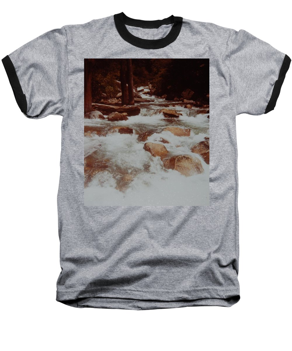 Water Baseball T-Shirt featuring the photograph Rushing Water by Rob Hans