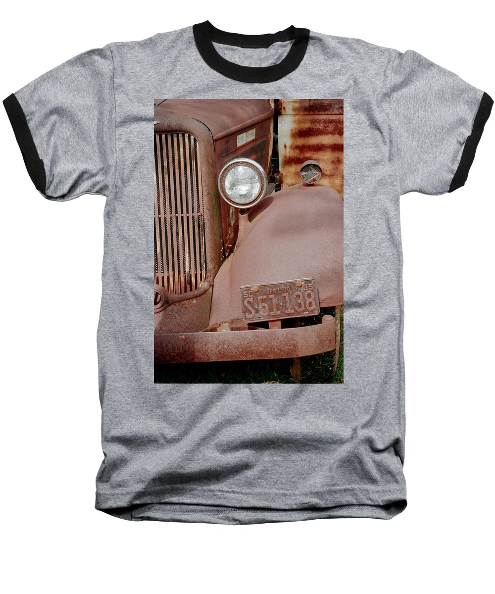 Car Baseball T-Shirt featuring the photograph Rusty by Flavia Westerwelle
