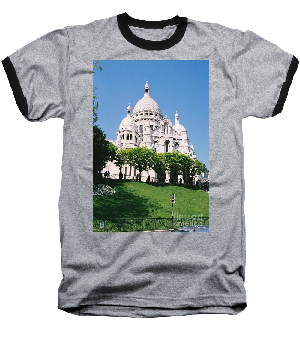Church Baseball T-Shirt featuring the photograph Sacre Coeur by Nadine Rippelmeyer