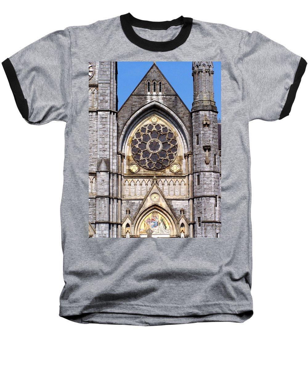 Ireland Baseball T-Shirt featuring the photograph Sacred Heart Church Detail Roscommon Ireland by Teresa Mucha