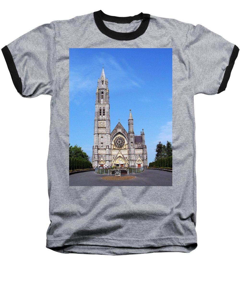 Ireland Baseball T-Shirt featuring the photograph Sacred Heart Church Roscommon Ireland by Teresa Mucha