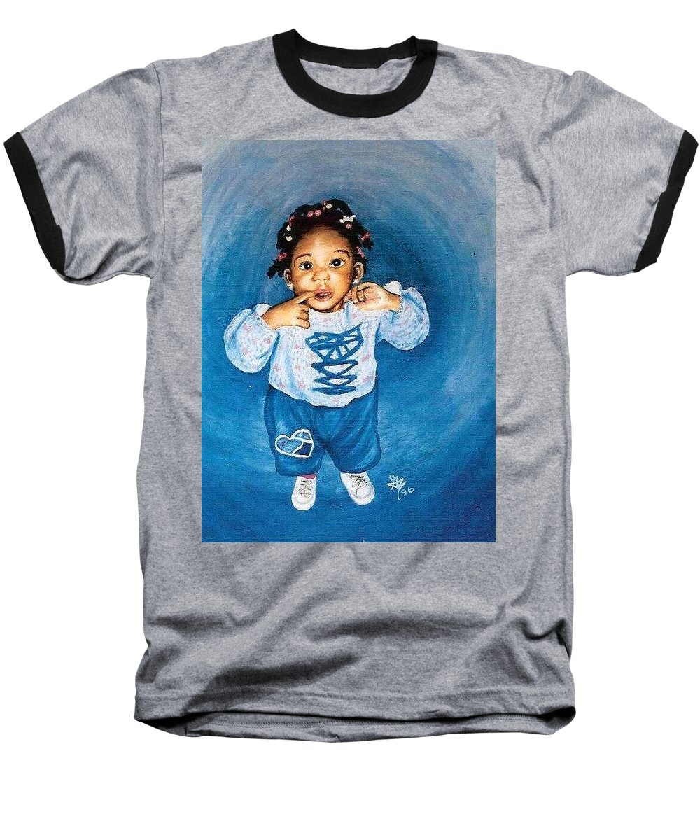 Child Baseball T-Shirt featuring the pastel Sadie by Gale Cochran-Smith