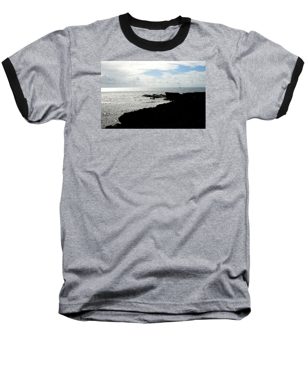 Sailboat Baseball T-Shirt featuring the photograph Sailboat At Point by Jean Macaluso