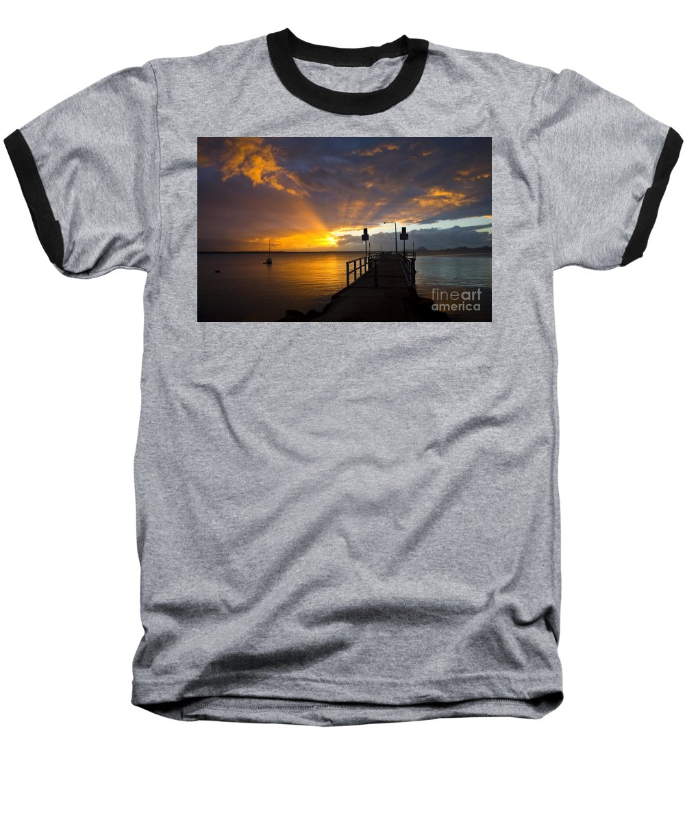 Sunrise Baseball T-Shirt featuring the photograph Salamander Bay Sunrise by Sheila Smart Fine Art Photography