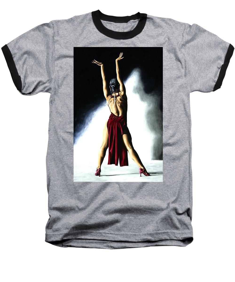 Samba Baseball T-Shirt featuring the painting Samba Celebration by Richard Young