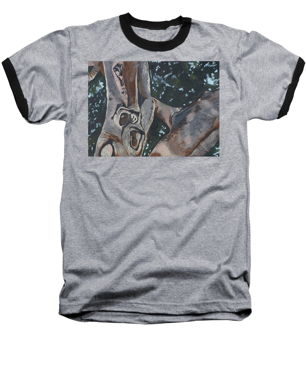 Contemporary Tree Baseball T-Shirt featuring the drawing San Diego Zoo by Leah Tomaino