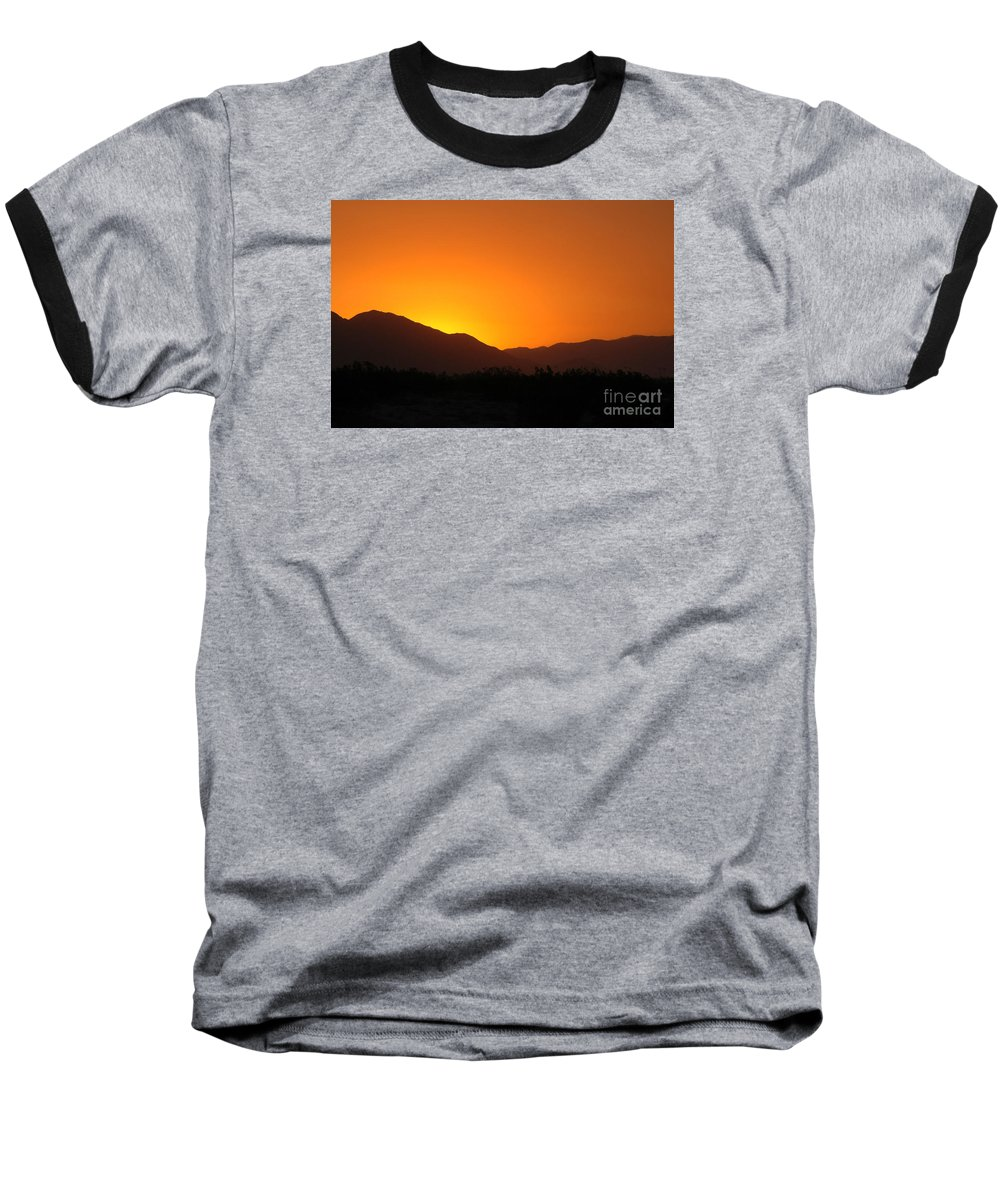 Sunset Baseball T-Shirt featuring the photograph San Jacinto Dusk Near Palm Springs by Michael Ziegler
