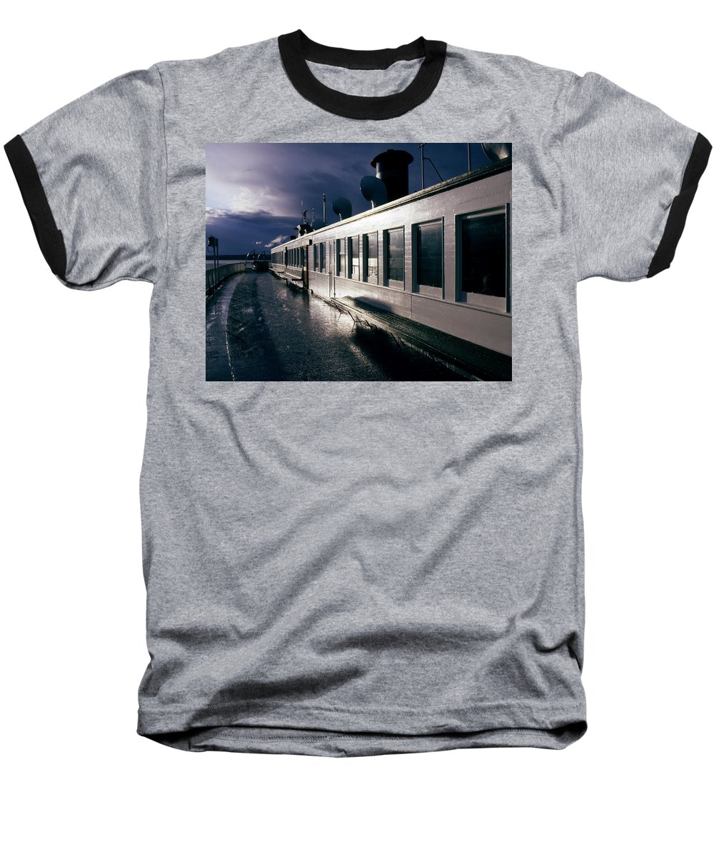 Scenic Baseball T-Shirt featuring the photograph San Juan Islands Ferry by Lee Santa
