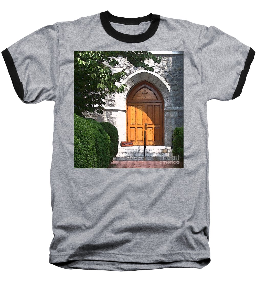 Church Baseball T-Shirt featuring the photograph Sanctuary by Debbi Granruth