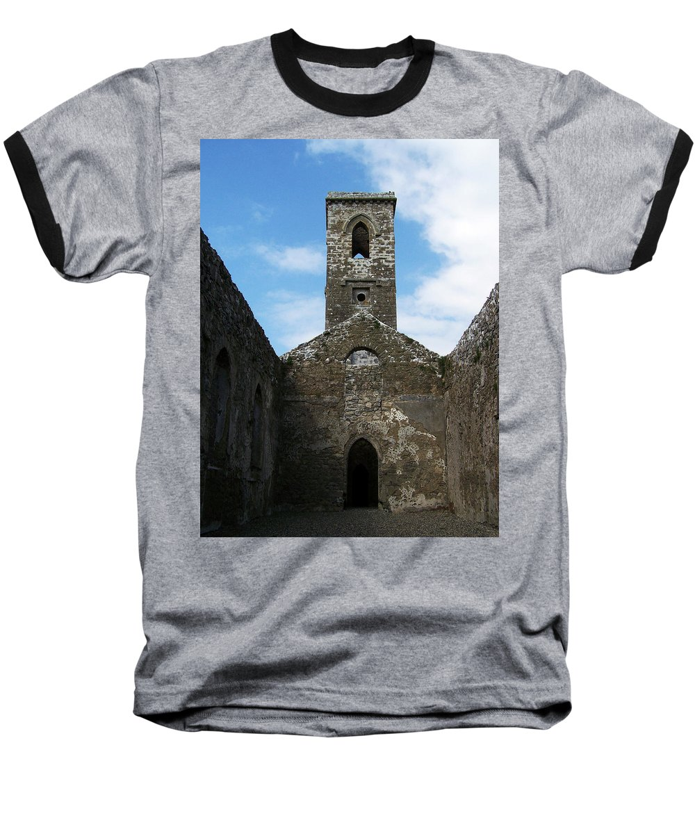 Ireland Baseball T-Shirt featuring the photograph Sanctuary Fuerty Church Roscommon Ireland by Teresa Mucha
