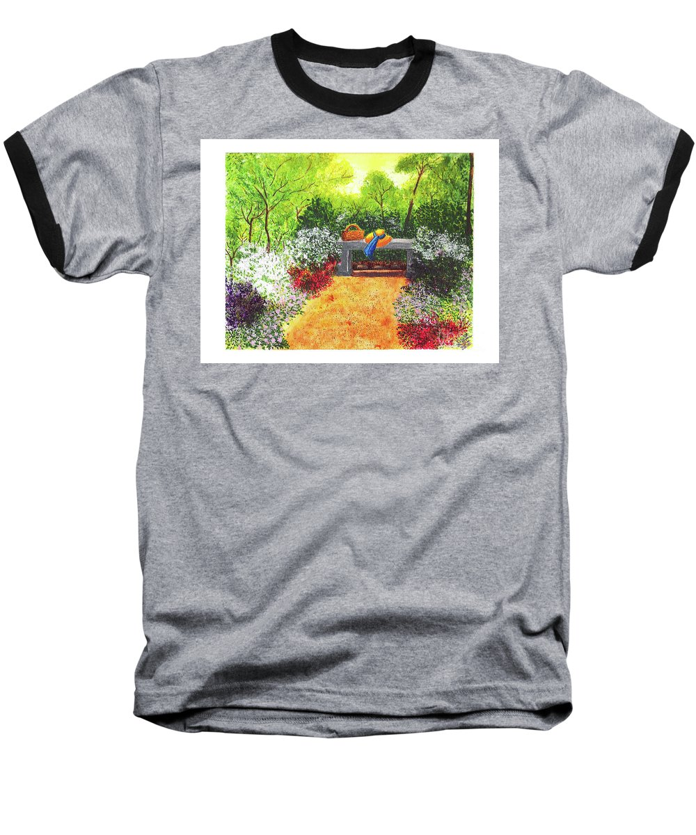 Garden Painting Baseball T-Shirt featuring the painting Sanctuary by Patricia Griffin Brett