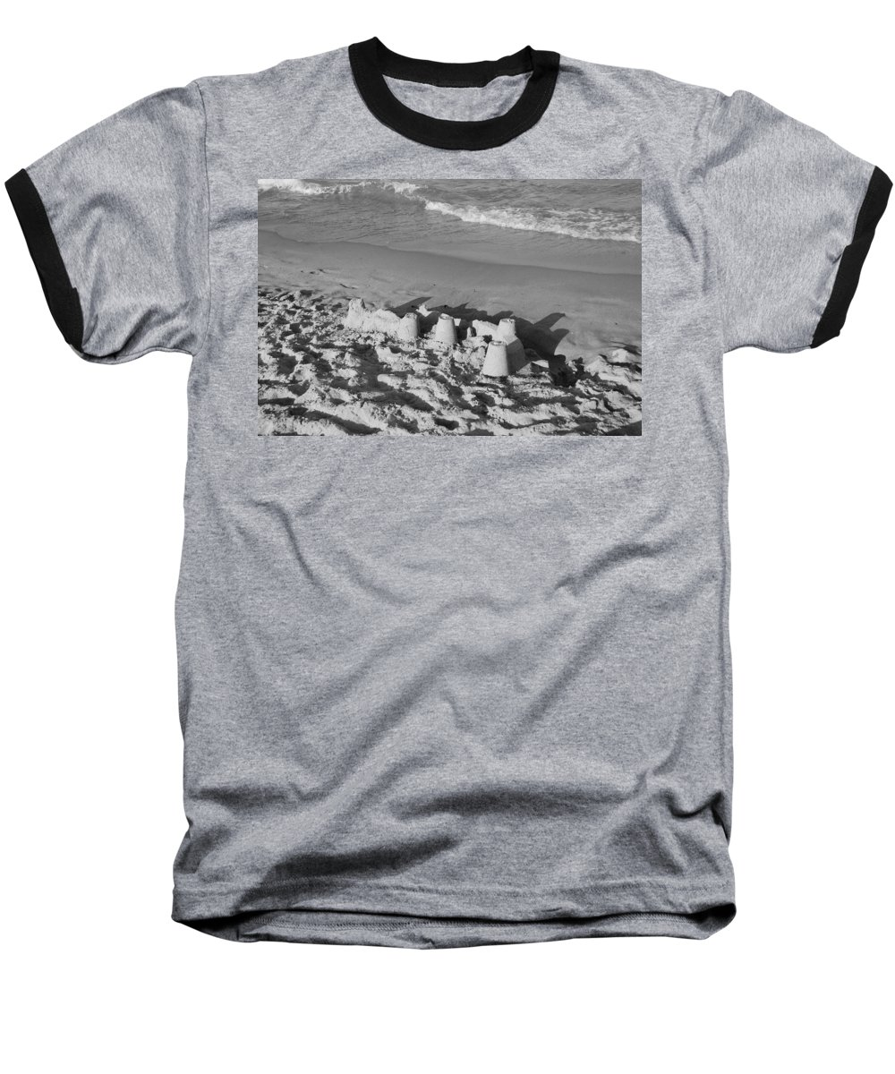 Sea Scape Baseball T-Shirt featuring the photograph Sand Castles By The Shore by Rob Hans
